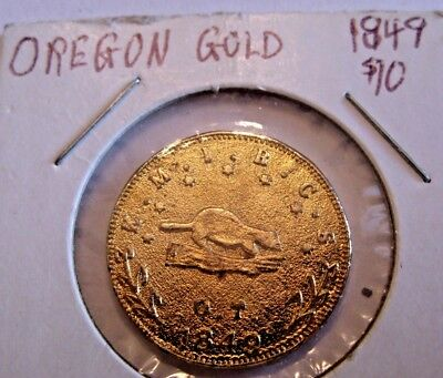 1849 Oregon Exchange Company Gold ine Fantasy  Coin Medal Token