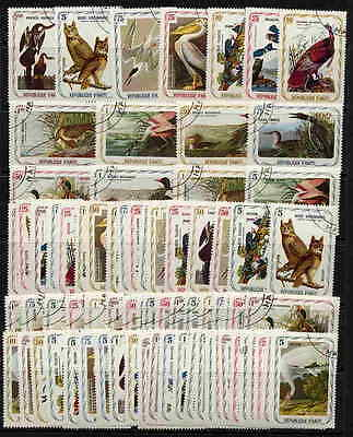 Incredible 1975 Haiti Audubon Bird Paintings Set Of 74!
