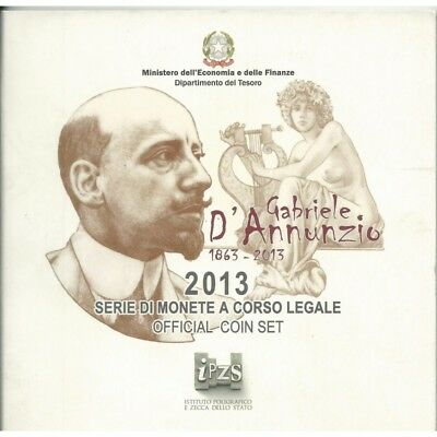 2013 Italy Serie Divisional Euro - Ipzs - 10 Coins Fdc With Silver