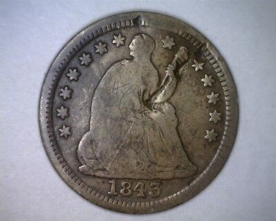 1843 Seated Liberty Half Dime from an estate - Damaged