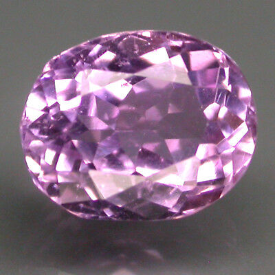 2.68 Ct. 9x7mm. Oval Cut 100% Natural Top Purplish Pink Kunzite Brazil Nr!