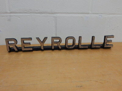 LARGE ORIGINAL INDUSTRIAL CAST METAL SIGN ~ REYROLLE ~ WEIGHS 3KGS ~ 54cms LONG