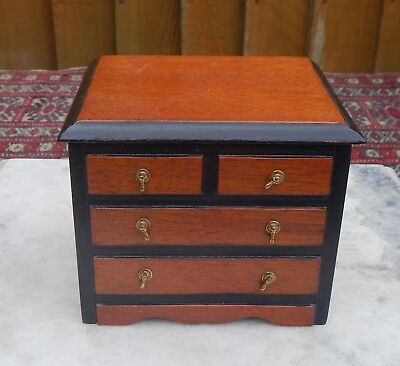 Vintage Tallent Of Bond Street Victorian Chest Of Darwers Music Jewellery Box