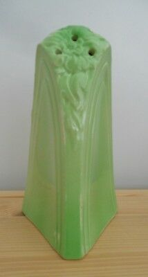 Green Ceramic Art Nouveau Sugar Shaker