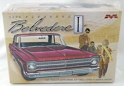 1:25 Scale 1965 Plymouth Belvedere Plastic Model Kit - Moebius Models #1218