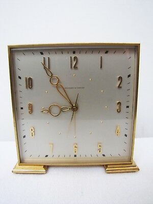 Spaulding and Company Swiss made Art Deco brass inspired Alarm shelf clock