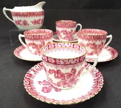 ECHT TUPPACK CHINA ROT TIEFENFURT 10 Pieces Espresso/Strong Tea/Coffee Set - S77