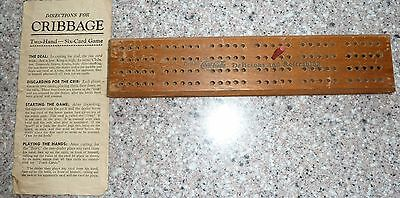 Vintage Coca Cola CRIBBAGE Game Board & Directions, 1940's