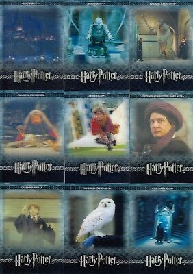 The World Of Harry Potter 3D Series 2 2008 Artbox Base Card Set Of 72 Movie