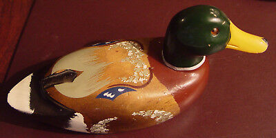 Small Hand Carved Hand Painted Wooden Duck Decoy