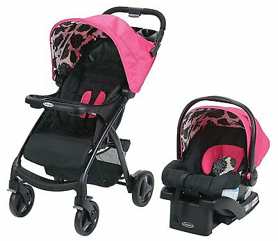 Graco Verb Click Connect Travel System - Azalea - New! Free Shipping!