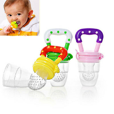 Baby Feeding Tool Infant Fresh Food Fruit Bite Nipple Safe Kids Pacifiers CHIC
