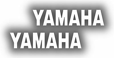 x2 80mm Yamaha Stickers (MOREin EBAY SHOP) Motorbike Decals White