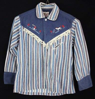 Roy Rogers OFFICIAL Vintage 1950's Child's Western Button Down Shirt Flannel