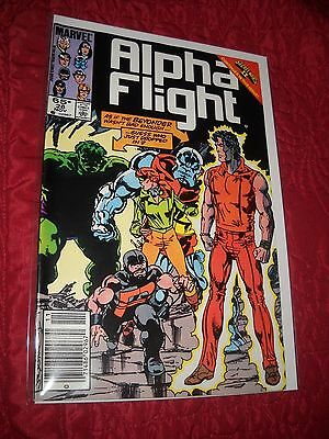 Alpha Flight # 28 Tough 6.5 Fn+ 1985 John Byrne Newstand Copy