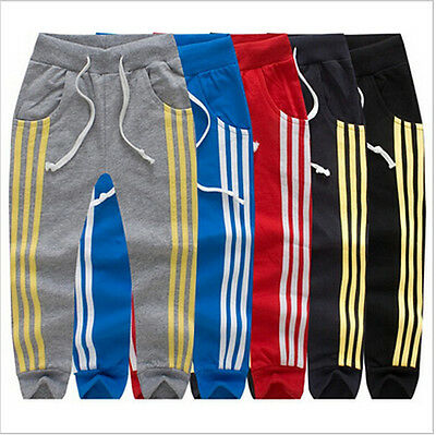 Kids Boys Girls Toddler Harem Trousers Casual Jogger Pants Striped Sportswear