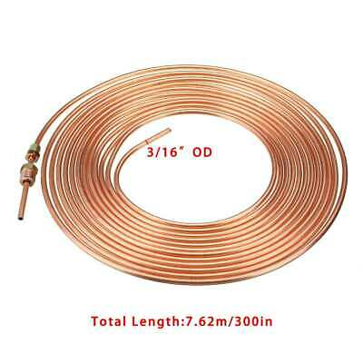 Copper Nickel Steel Brake Line Tubing Kit 3/16 OD 25 Foot Coil Roll for All Auto