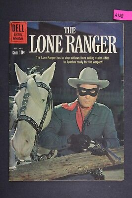 The LONE RANGER #136 Vintage Western Dell Comic Book 1960 A128