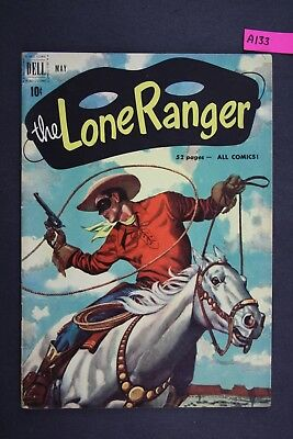 The LONE RANGER #35 Vintage Western Dell Comic Book 1951 A133