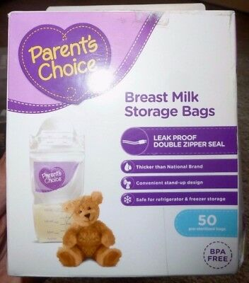 New Parents Choice Breast Milk Storage Bags Bpa Free 50 Pre Sterilized Bags