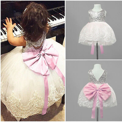 Princess Kid Baby Baby Girl Lace Tutu Dress Wedding Party Pageant Formal Dresses