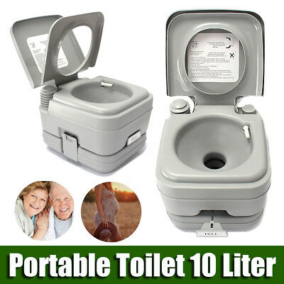10L Portable Toilet Potty Outdoor Camping Caravan Camp Boating Travel 50 Flushes