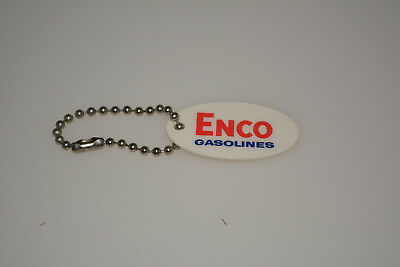 Vintage ENCO Gasoline Happy Motoring Gas Oil Keychain ESSO Humble Advertising