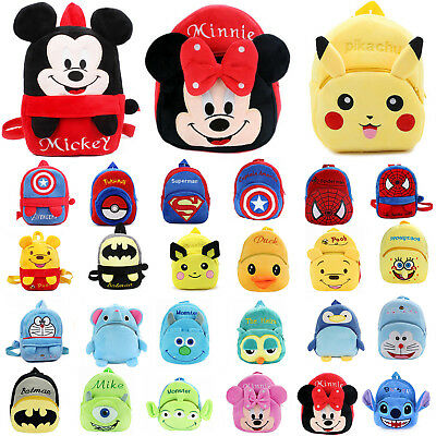 Toddler Kids Baby Cartoon Backpack Schoolbag Plush Preschool Small Shoulder Bag