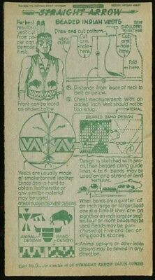 Straight Arrow Nabisco card Beaded Indian Vests Book 3 #5