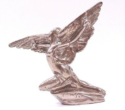 Vintage CAR MASCOT Lady with Wings HOOD SCULPTURE  - SA1