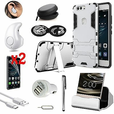 Case Cover+Dock Charger+Wireless Earphone Headset Accessory For Huawei P9 Lite