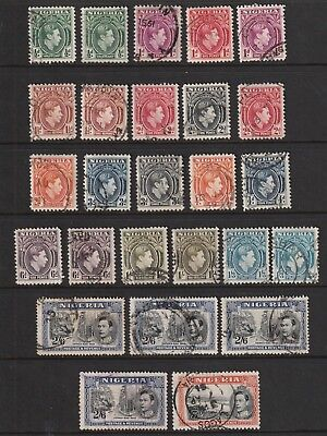 GEOVI NIGERIA 38   set fine used cat £25 Inc range of 2/6  and perfs/shades