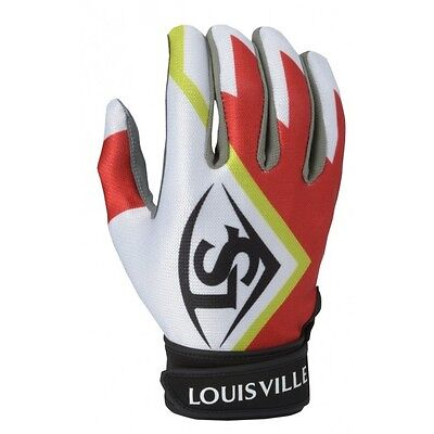 Louisville Slugger Series 3 Youth Batting Gloves BGS316Y-Scarlet-Youth Large