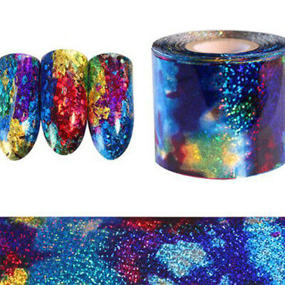 1 Rolls Gradient Starry Sky Nail Art Foil Paper Manicure Sticker Decal Tips DIY