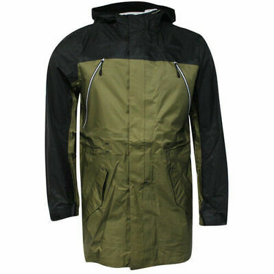 huge selection of 498c0 f961f Nike Sports Wear Full Zip Up Buttoned Mens Black Green Jacket Coat 459626  222 P4