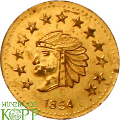 AA4132) USA Half Dollar 1854 California Gold Indian Head