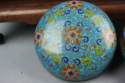 19th C. Chinese Cloisonné Circular Box And Domed Cover