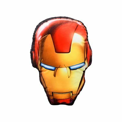 Official Marvel Iron Man Led Light Up Shaped Cushion Boys Childrens