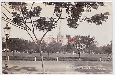 SINGAPORE St ANDREWS CATHEDRAL REAL PHOTO POSTCARD E20C - 22