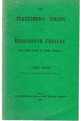 Scarce XF++ 1892 Tradesmen's Tokens Book By James Atkins 11 Pages