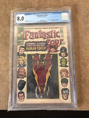 FANTASTIC FOUR 1961-96 #54 Marvel CGC VF: 8.0