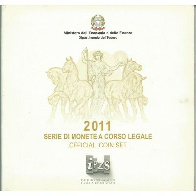 2011 Italy Serie Divisional Euro - Ipzs - 10 Coins Fdc With Silver