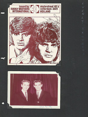 Everly Brothers 2 Pages / 9 Photos + Clipping - Grand Ole Opry