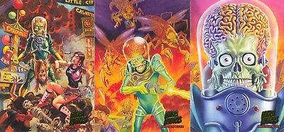 Mars Attacks Invasion 2013 Topps Masterpieces Insert Card Set 1 To 5