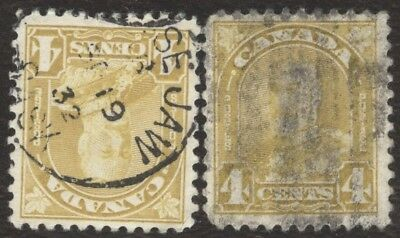 Stamps Canada # 168, 4¢, 1930, lot of 2 used stamps.