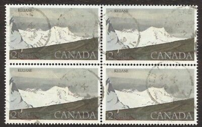 Stamps Canada # 727, $2, 1979, 1 block of 4 used stamps.