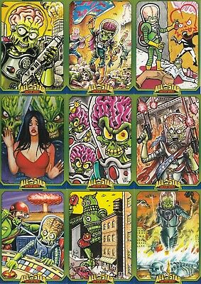 Mars Attacks Occupation 2015 All Star Sketch Artist Insert Card Set As1 To As9