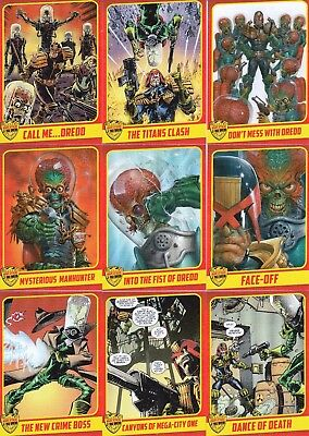 Mars Attacks Occupation 2015 Judge Dredd Kickstarter Insert Card Set 1 To 18