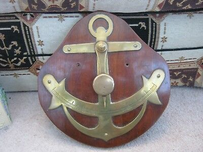 Old Brass Ship Or Boat Inclinometer Gauge For Cargo Loading