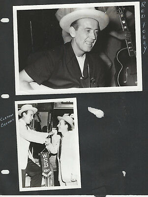 Red Foley 8 Photos + Clippings One is Signed - Grand Ole Opry